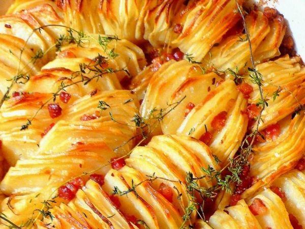 Запечённый молодой картофель с Беконом и Овощами | Ярмарка Мастеров - ручная работа, handmade