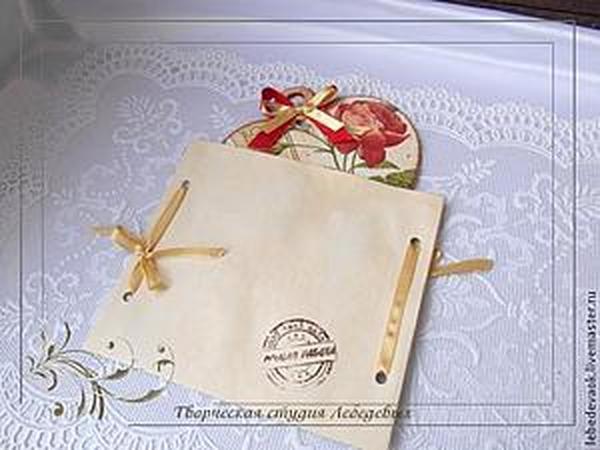Изготовление упаковочного конвертика для декупажных мелочей | Ярмарка Мастеров - ручная работа, handmade