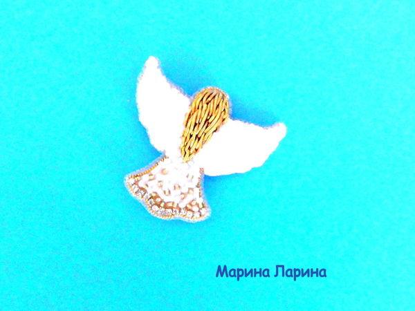 Создаем брошь «Ангел» из бисера   Ярмарка Мастеров - ручная работа, handmade
