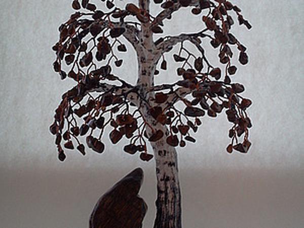 Делаем берёзу из декоративных камней и проволоки   Ярмарка Мастеров - ручная работа, handmade