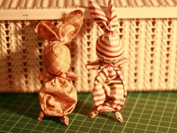 Мастерим игрушку «Зайчик на пальчик» | Ярмарка Мастеров - ручная работа, handmade