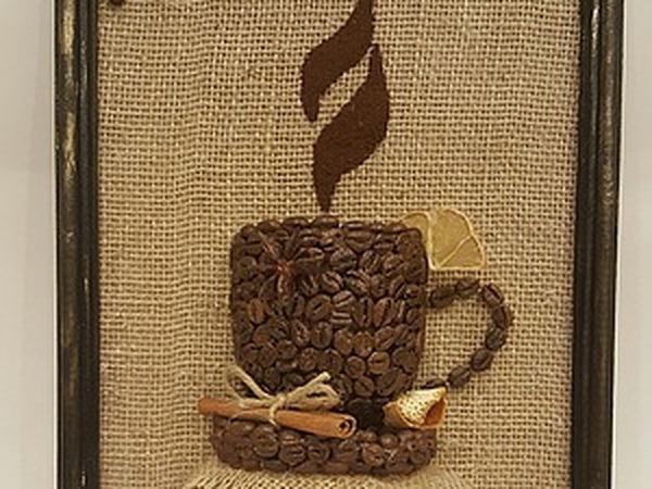 Создаем кофейное панно   Ярмарка Мастеров - ручная работа, handmade