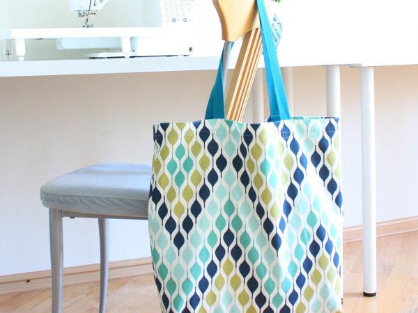 Шьем сумку шоппер с карманом | Ярмарка Мастеров - ручная работа, handmade