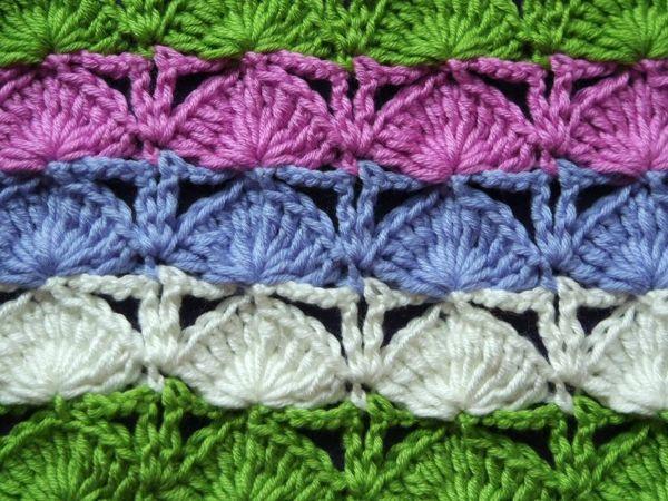Вяжем крючком плед: Хвост павлина | Ярмарка Мастеров - ручная работа, handmade