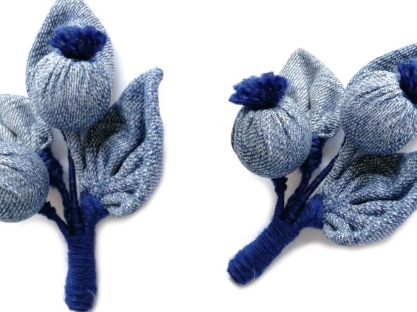 Создаем джинсовые  «Ягоды»  из подручных материалов | Ярмарка Мастеров - ручная работа, handmade