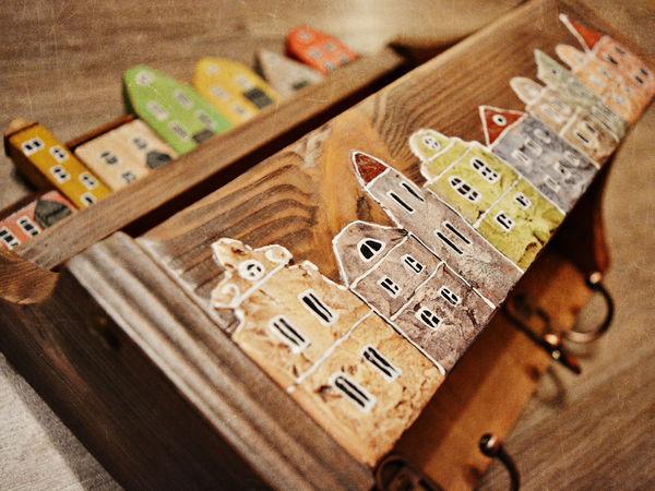 Декорируем ключницу-полочку «Голландский квартал» | Ярмарка Мастеров - ручная работа, handmade