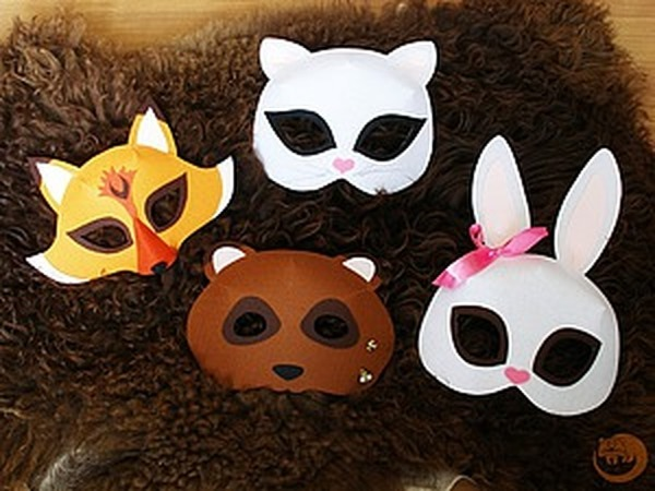 Делаем карнавальные маски зверей из фетра   Ярмарка Мастеров - ручная работа, handmade