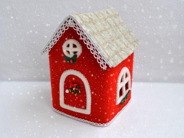 Валяем уютный новогодний домик | Ярмарка Мастеров - ручная работа, handmade