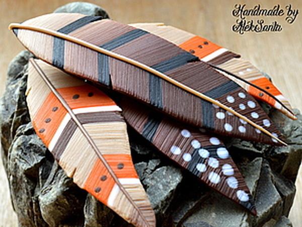 Мастер-класс: создаем перья из полимерной глины | Ярмарка Мастеров - ручная работа, handmade