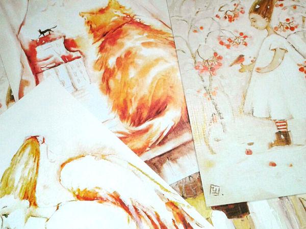 В магазине новые принты! Ангелы,коты и зонты) | Ярмарка Мастеров - ручная работа, handmade
