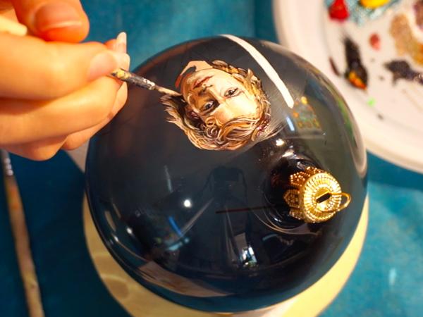 Расписываем елочный шар: портрет Энакина Скайуокера | Ярмарка Мастеров - ручная работа, handmade