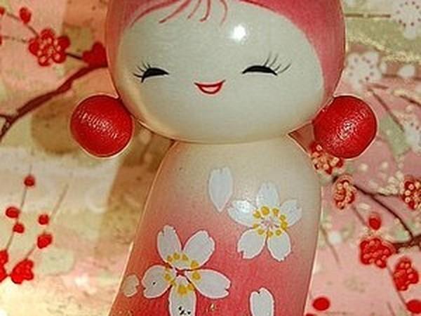 Мастер-класс по росписи японской куклы Кокэси. | Ярмарка Мастеров - ручная работа, handmade