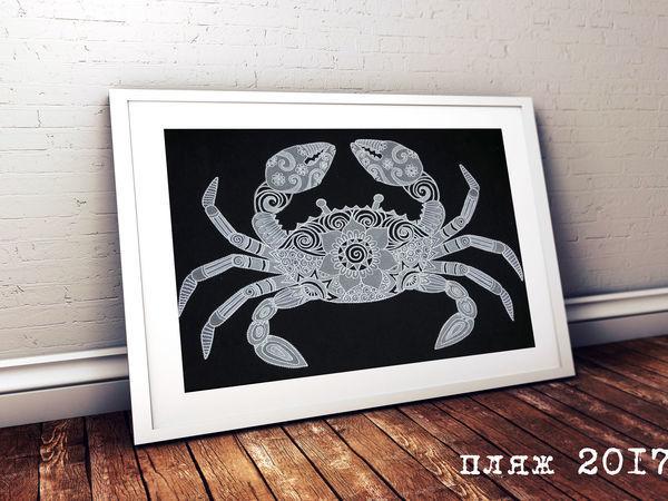Изготавливаем панно «Черноморский краб» | Ярмарка Мастеров - ручная работа, handmade