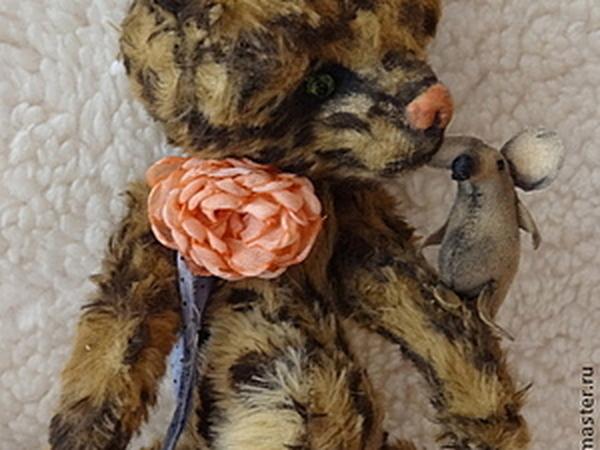 Аукцион на Тедди Котю..:)) с другом мышей | Ярмарка Мастеров - ручная работа, handmade