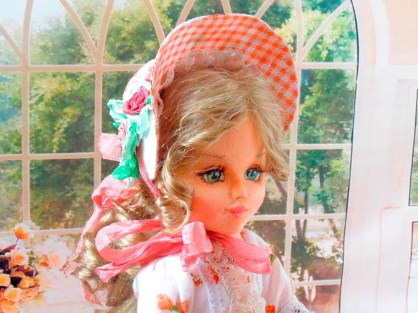 Шьем очень простую милую шляпку для куклы   Ярмарка Мастеров - ручная работа, handmade
