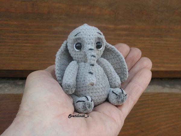 Вяжем милого миниатюрного слоника | Ярмарка Мастеров - ручная работа, handmade