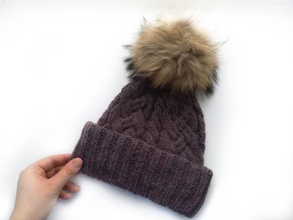 Вяжем красивую шапку с косами   Ярмарка Мастеров - ручная работа, handmade