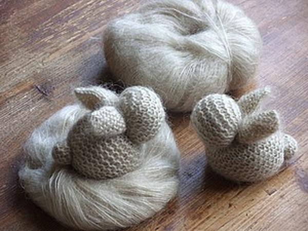 Кролик с сумочкой   Ярмарка Мастеров - ручная работа, handmade