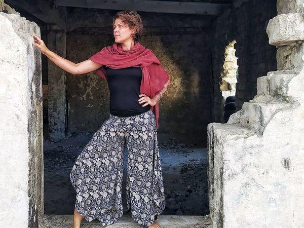 -25% на легкие яркие шелковые штаники | Ярмарка Мастеров - ручная работа, handmade