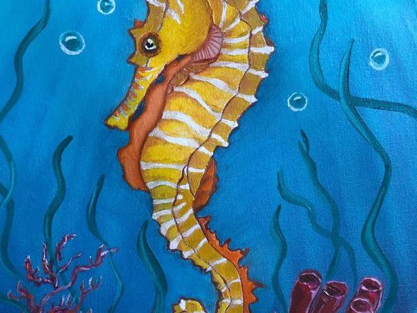 Сказка моря. Цикл Экзотические рыбки. Морской конек | Ярмарка Мастеров - ручная работа, handmade