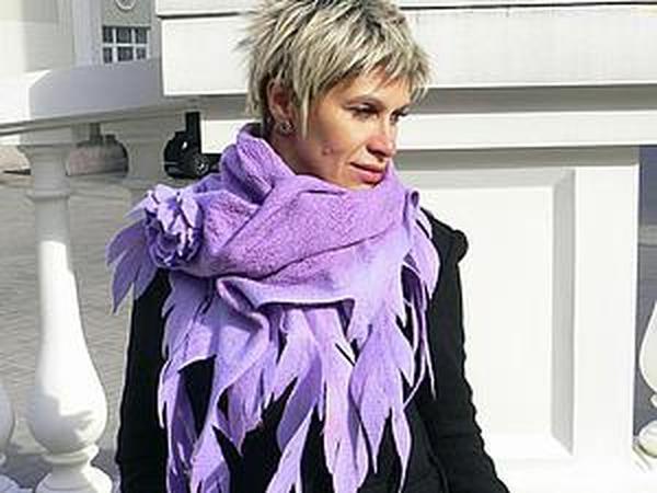 Шарфы и шарфики: новые модели, актуальные цвета, авторский дизайн. | Ярмарка Мастеров - ручная работа, handmade