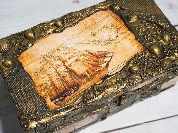 Шкатулка сундук с сокровищами своими руками | Ярмарка Мастеров - ручная работа, handmade