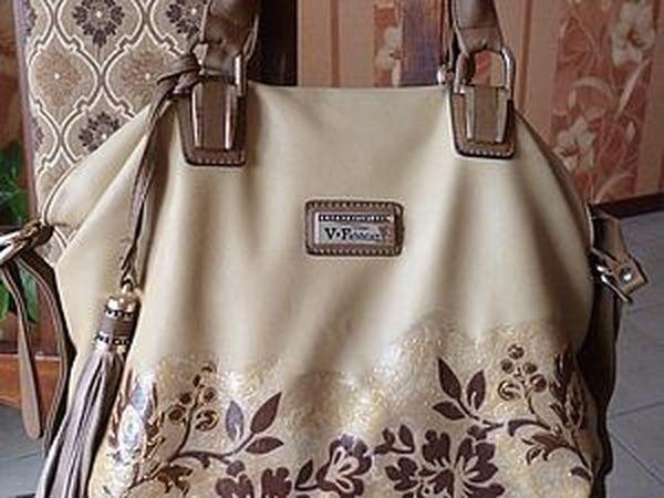 Наконец-то декорировала свою сумку | Ярмарка Мастеров - ручная работа, handmade