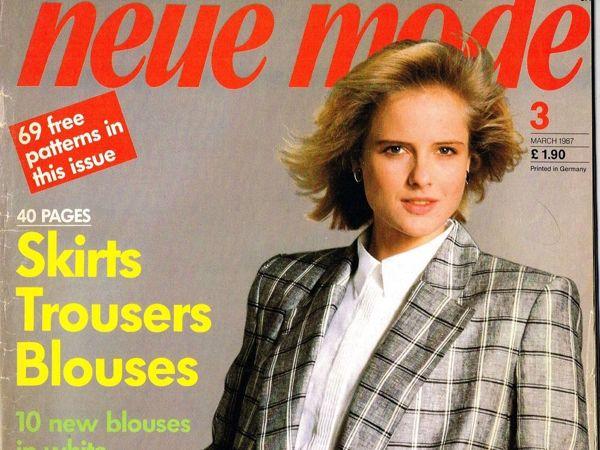 Neue Mode № 3/1987. Фото моделей | Ярмарка Мастеров - ручная работа, handmade