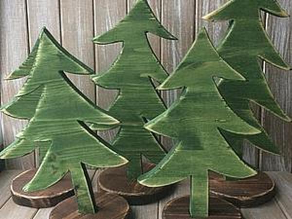 Ёлка из деревянных обрезков: делаем несложный подарок для покупателей | Ярмарка Мастеров - ручная работа, handmade