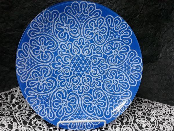 Кружевная роспись тарелки | Ярмарка Мастеров - ручная работа, handmade