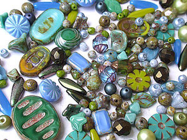 Разнообразие чешских бусин: примеры использования в украшениях   Ярмарка Мастеров - ручная работа, handmade