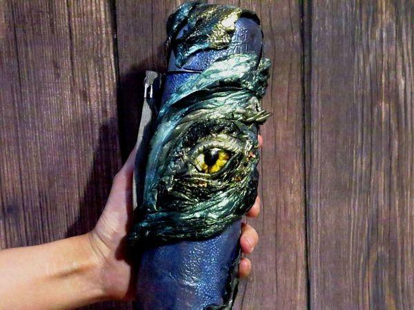 Глаз дракона: декор термоса+лайфхаки по коже дракона | Ярмарка Мастеров - ручная работа, handmade