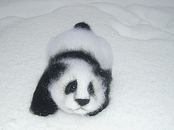 Вяжем крючком панду | Ярмарка Мастеров - ручная работа, handmade