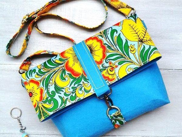 Шьем сумку-клатч из цветного фетра «Хохлома» | Ярмарка Мастеров - ручная работа, handmade