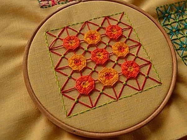 Вышивка в технике «Декоративная сетка», или «Крестик для ленивых». Часть 3: цветочки-мандалы | Ярмарка Мастеров - ручная работа, handmade