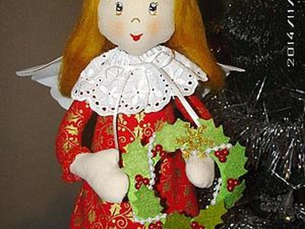 Мастерим рождественского ангела | Ярмарка Мастеров - ручная работа, handmade