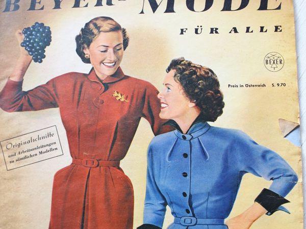 Beyer mode — старый журнал мод- начало 50-х | Ярмарка Мастеров - ручная работа, handmade