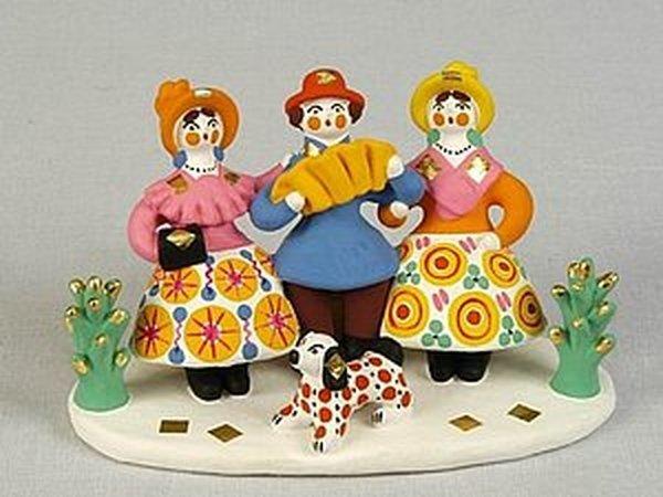 Старинный промысел России - дымковская игрушка | Ярмарка Мастеров - ручная работа, handmade