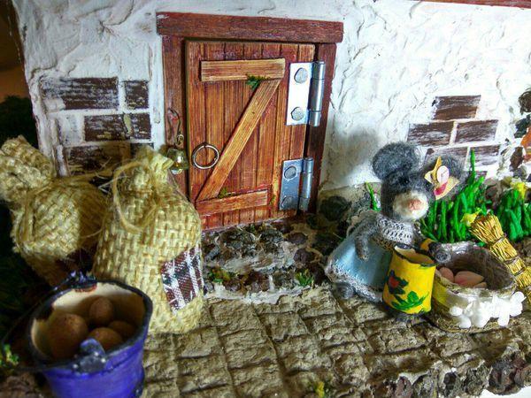 Сказочный мини-домик для мышки в наличии!   Ярмарка Мастеров - ручная работа, handmade