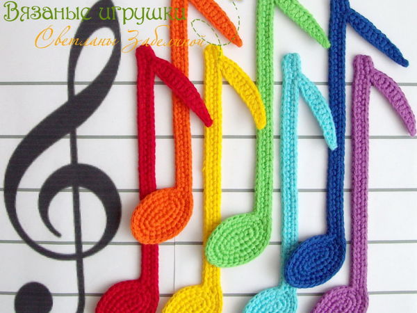 Crocheting ''Color Notes'' Bookmarks | Livemaster - handmade
