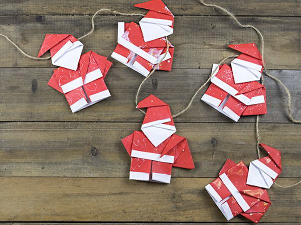 Новогодняя гирлянда из бумаги своими руками | Ярмарка Мастеров - ручная работа, handmade