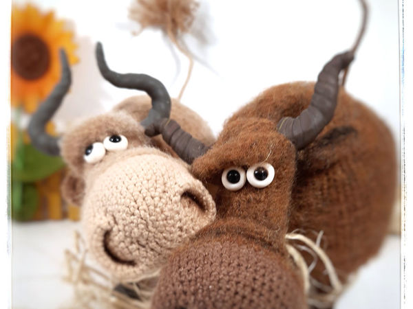 Стада бычков полетели! | Ярмарка Мастеров - ручная работа, handmade