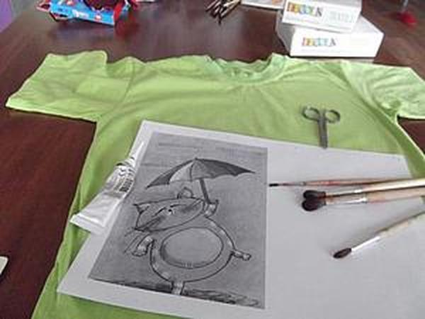 Мастер-класс: забавная футболка | Ярмарка Мастеров - ручная работа, handmade