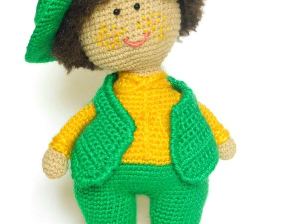 Вязаная игрушка Мальчишка | Ярмарка Мастеров - ручная работа, handmade