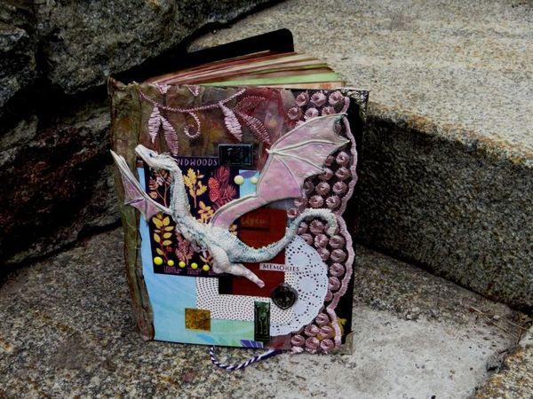 Обложка с драконом для магической книги в смешанной технике | Ярмарка Мастеров - ручная работа, handmade