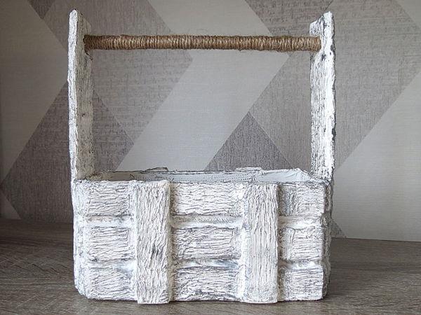 Ящик из картона своими руками! Имитация дерева | Ярмарка Мастеров - ручная работа, handmade