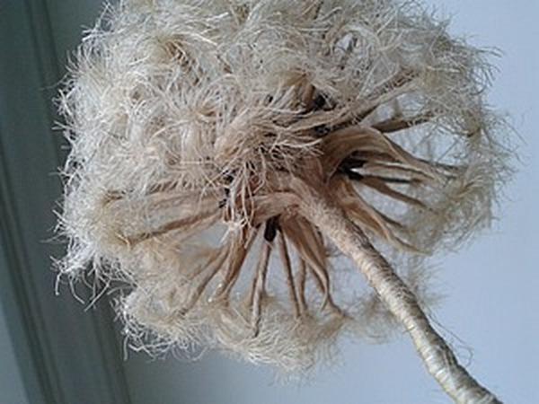 Как сделать одуванчик из джутового шпагата | Ярмарка Мастеров - ручная работа, handmade