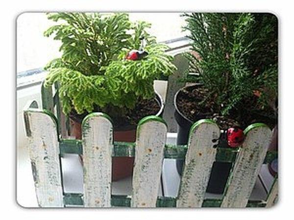 Оформление забора для цветов   Ярмарка Мастеров - ручная работа, handmade