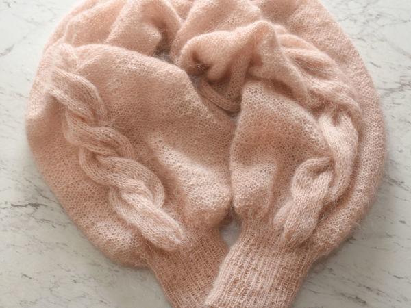 Вяжем шаль-рукава — модный и эффектный аксессуар | Ярмарка Мастеров - ручная работа, handmade