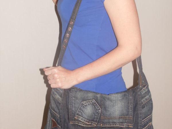 Шьем оригинальную сумку из юбки-денима   Ярмарка Мастеров - ручная работа, handmade